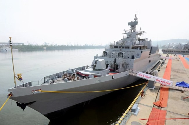 经常在中国周边晃悠 印媒大肆吹嘘这艘主力战舰