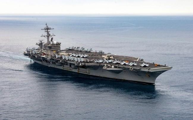 美军航母首次搭载F-35C隐形战机出海部署