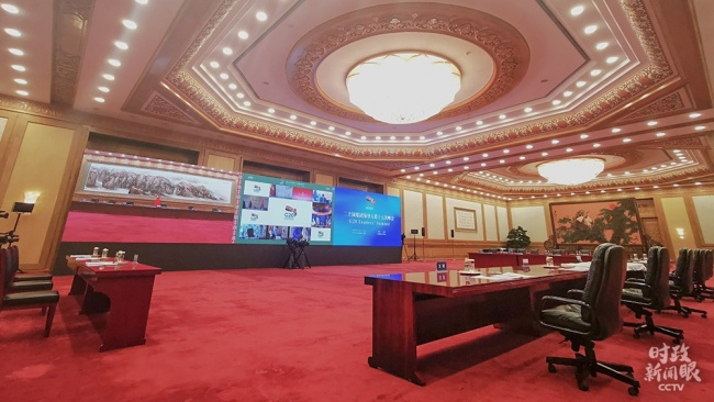 △北京,会议开始前的现场(总台央视记者张晓鹏拍摄)