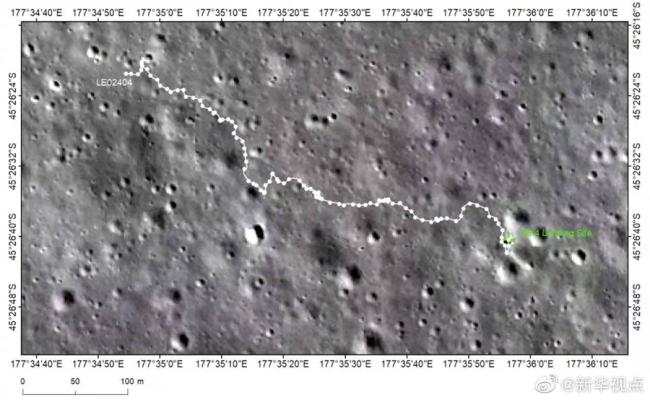 """行驶里程突破600米!""""玉兔二号""""月球车完成第25月昼工作"""