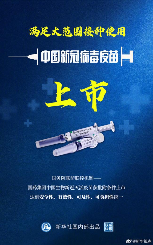 权威快报 中国新冠病毒疫苗上市