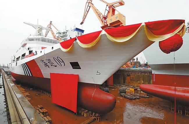 中国首艘万吨级海巡船今年服役,具备全球巡航救援功能