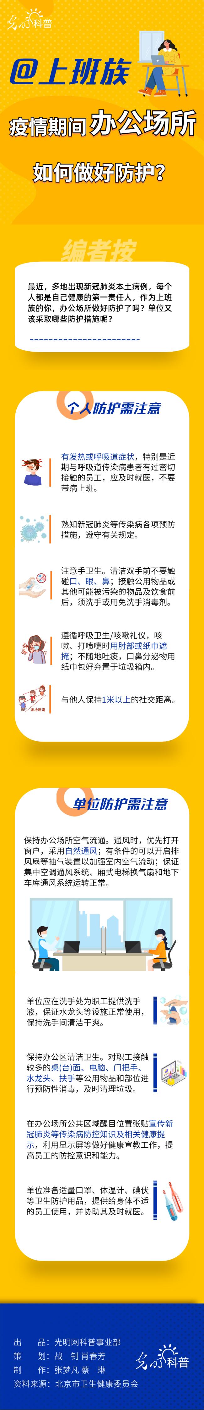 【防疫科普】@上班族 疫情期间办公场所如何做好防护?