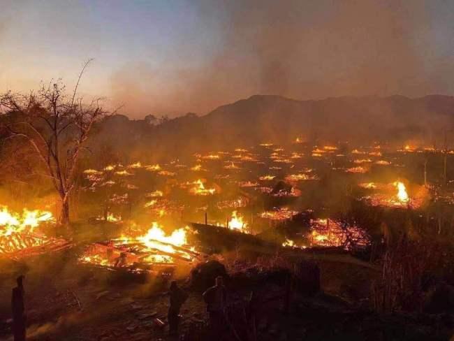 中国最后的原始部落村寨明火扑灭,起火原因正在进一步调查中