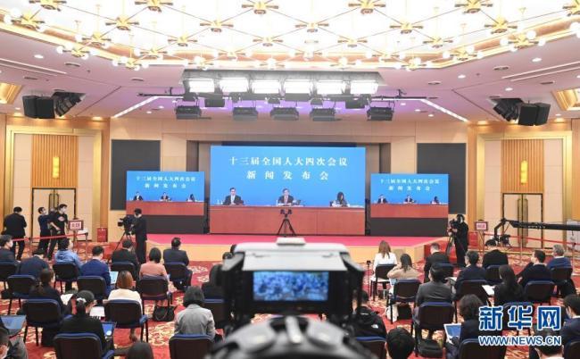 (两会受权发布)十三届全国人大四次会议举行新闻发布会 大会发言人张业遂答中外记者问