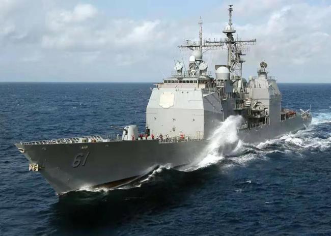 """△美国""""蒙特利""""号导弹巡洋舰"""
