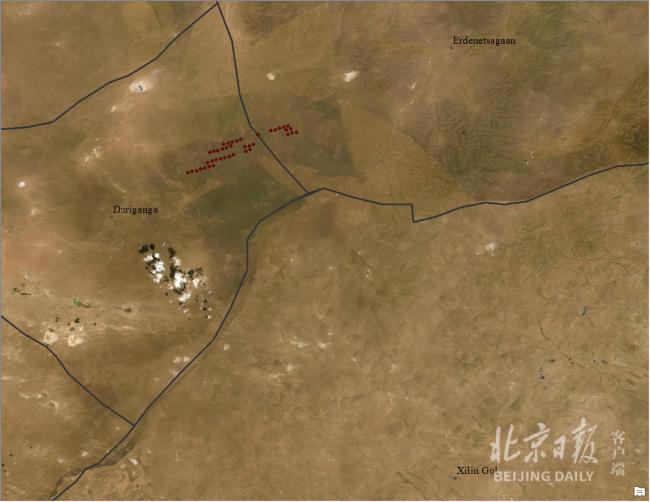 卫星图像告诉你 蒙古国大火无法跨过中国边境线
