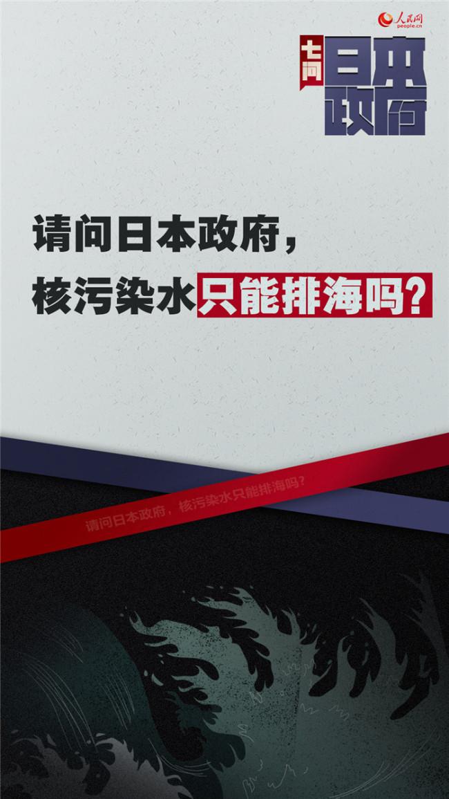海报:七问日本政府福岛核污染水排放入海