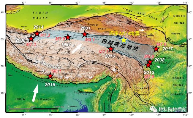 """青海玛多""""5·22""""地震为典型左旋走滑型地震事件"""