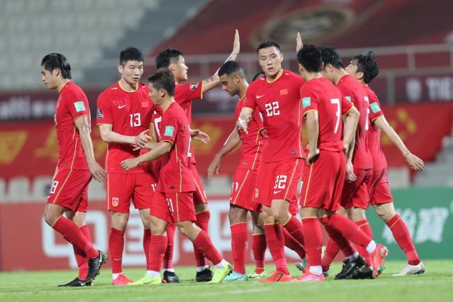 [图]世预赛-武磊张玉宁传射 国足5-0大胜马尔代夫