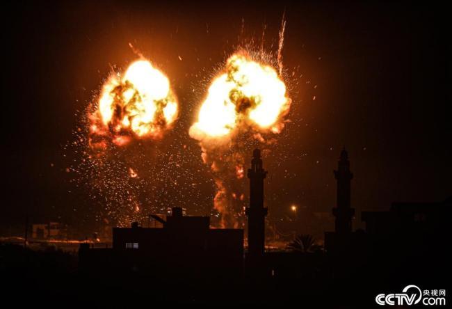 停火后以军首次空袭加沙