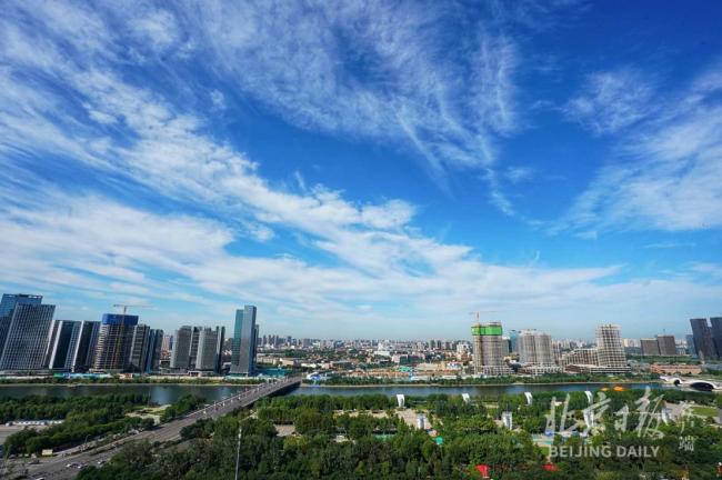 蓝天白云大运河,俯瞰北京城市副中心,美不胜收!