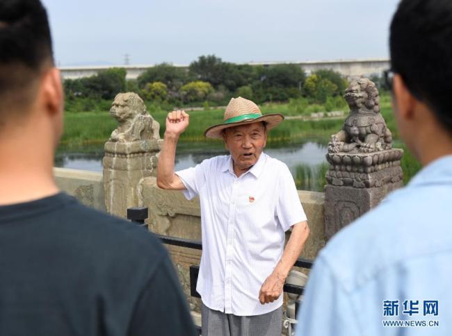 """从亲历屈辱到尽享安宁——亲历""""七七事变""""耄耋老人宣讲抗战历史"""
