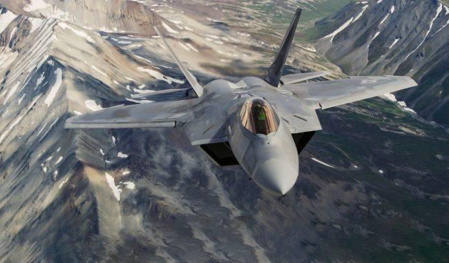 """资料图:F-22""""猛禽""""战斗机 图自洛克希德·马丁公司官网"""