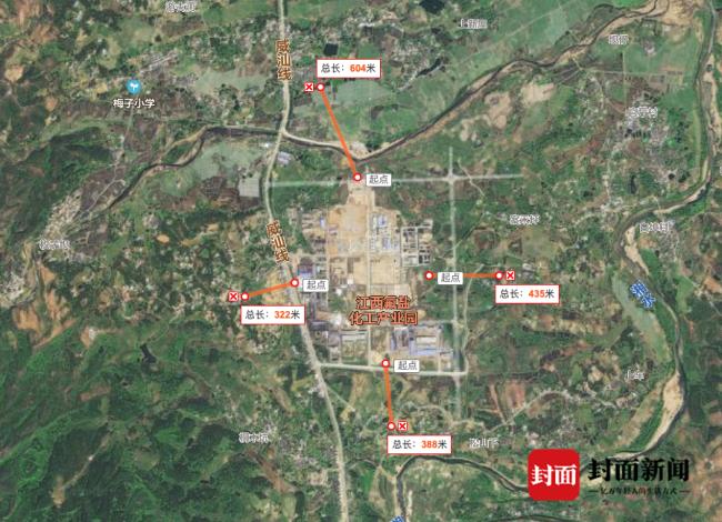 九二工业基地距离半岗村不到600米
