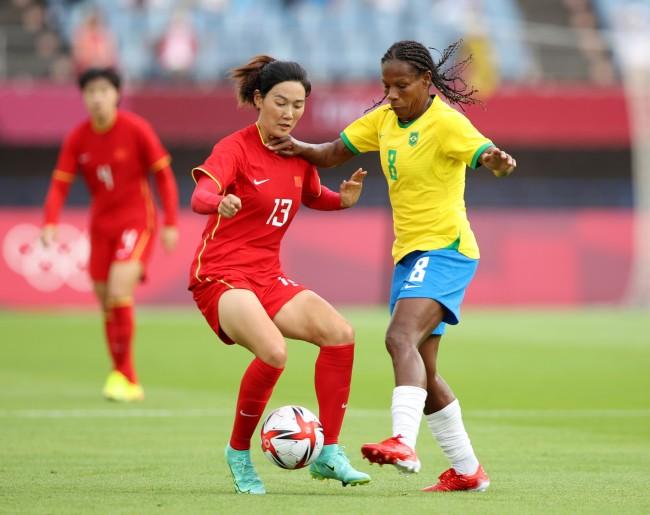 中国女足0-5惨败巴西 奥运首战开门黑