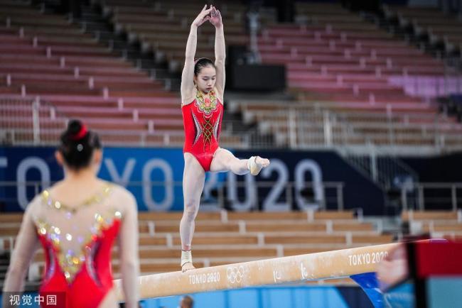 奥运会比赛即将开始 中国体操队积极训练备战