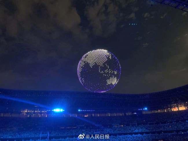 东京奥运会开幕式 1824架无人机空中拼出地球