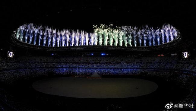 东京奥运开幕式高清焰火(图)
