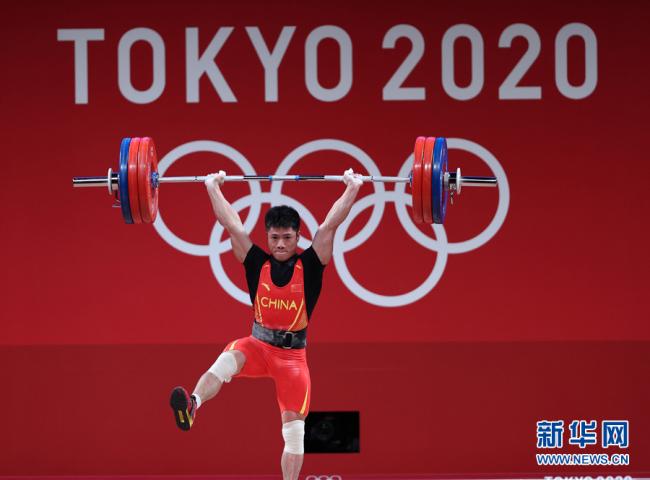 李发彬夺举重男子61公斤级冠军