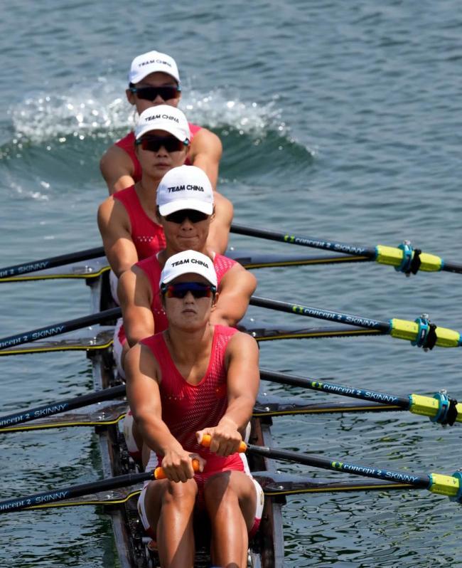 第十金!中国队夺得赛艇女子四人双桨金牌