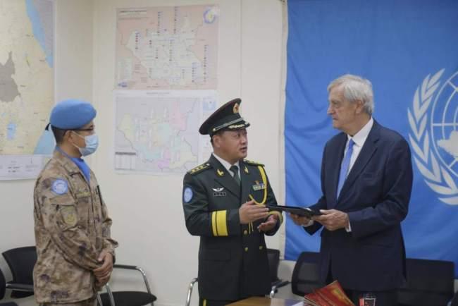 联合国秘书长特别代表点赞中国蓝盔