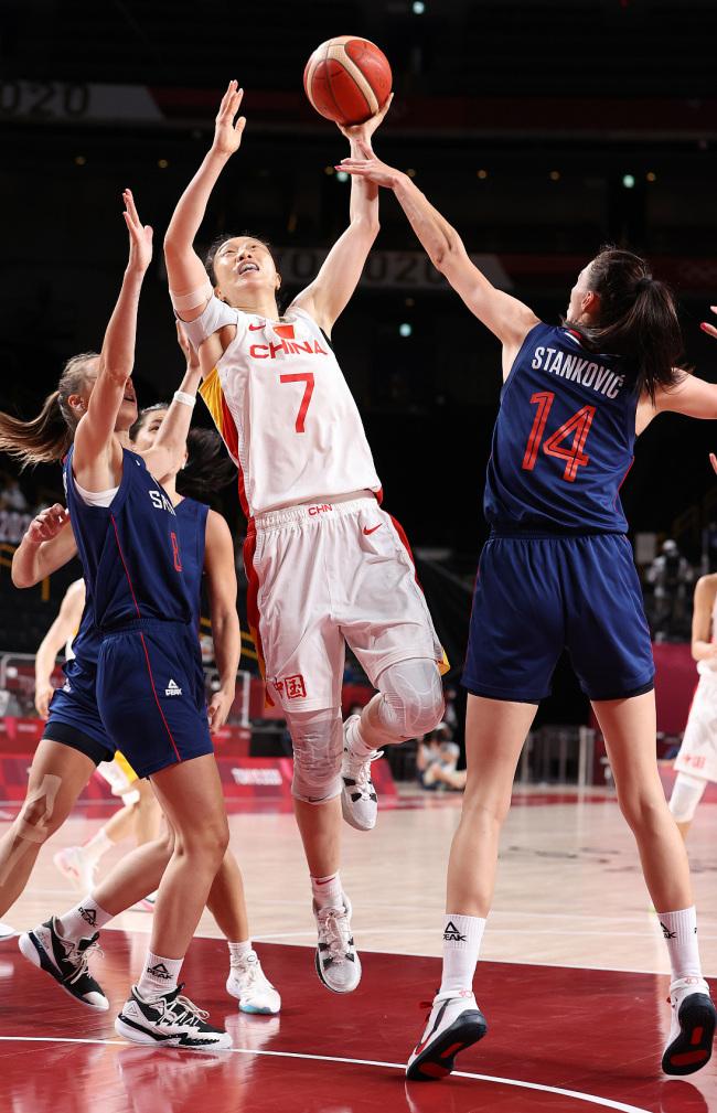 中国女篮不敌塞尔维亚女篮,无缘奥运会四强