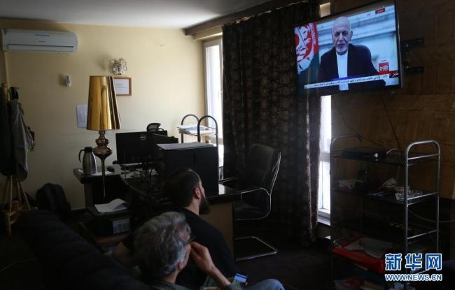 阿富汗总统发表电视讲话