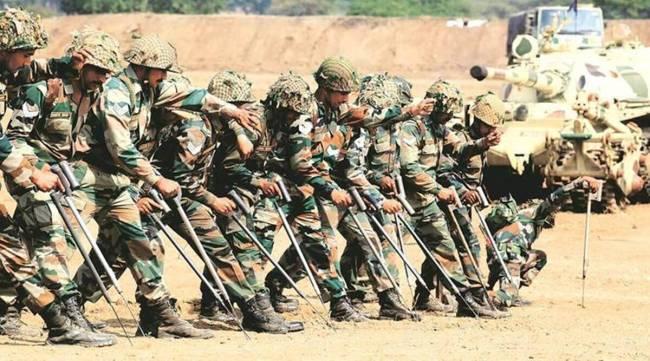 印度帕坦科特附近举行侦察比赛