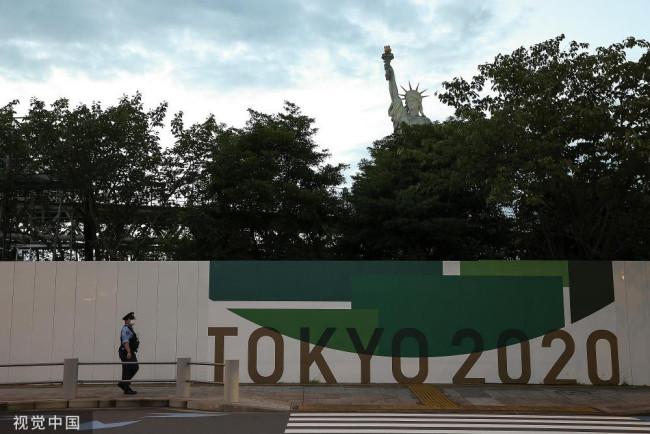 东京残奥会元素随处可见 与城市风光融为一体