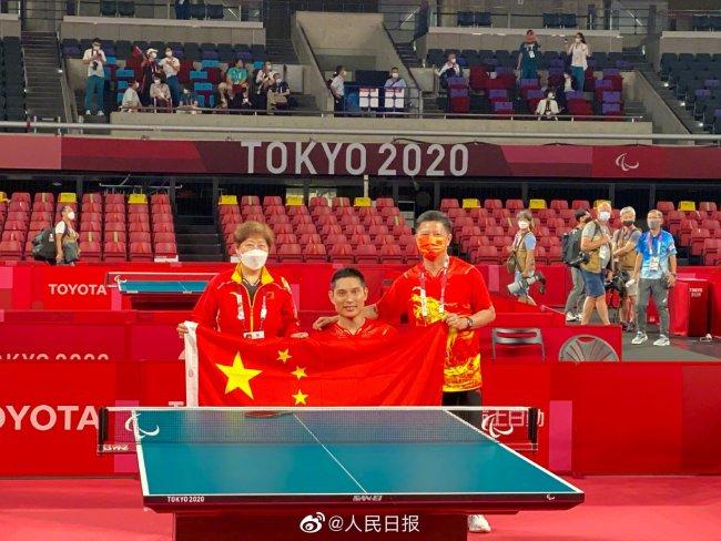 棒!中国乒乓球东京残奥会首金来了!