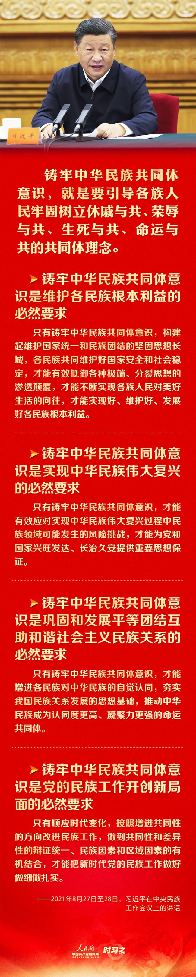 """铸牢中华民族共同体意识 习近平强调这四个""""必然要求"""""""