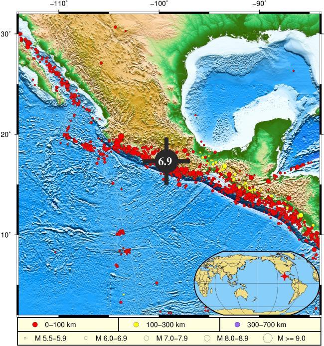 墨西哥发生7.1级地震,震源深度30千米