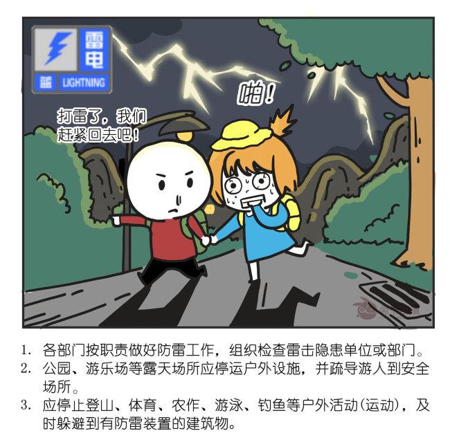 北京市2021年9月12日19时10分发布雷电蓝色预警