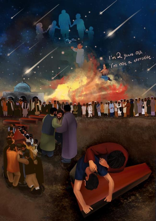 """两岁的""""恐怖分子""""?国社漫画揭露美军在阿富汗罪行引海外网友热议"""