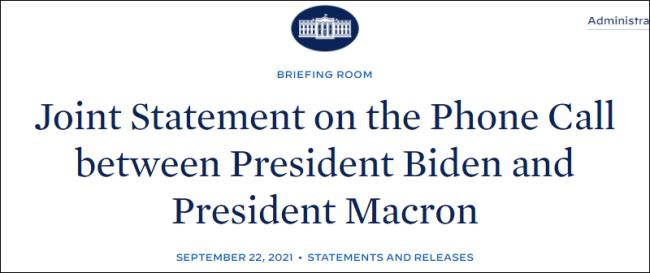 马克龙与拜登通话:法大使下周返美
