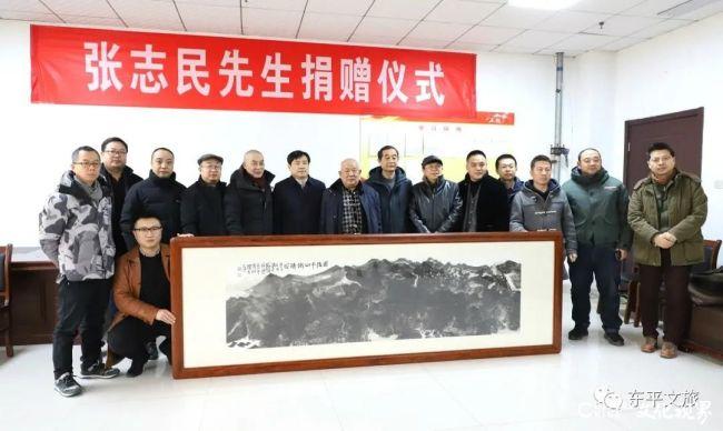 著名画家张志民将作品《雨后千山铁铸成》捐赠泰安东平县博物馆,支持东平文化创新发展