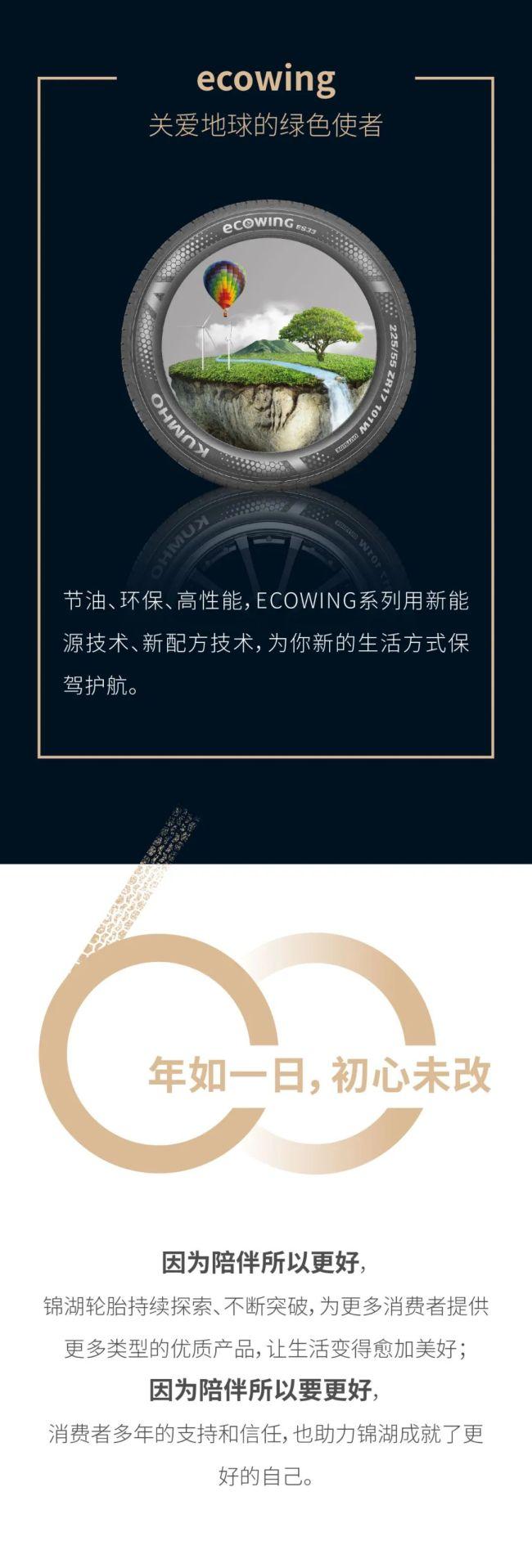 1961-2021,锦湖轮胎持续提供优质产品  专注陪伴60年