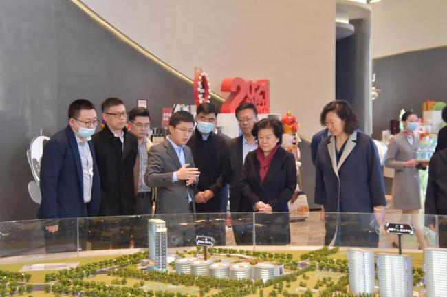 济南市委副书记边祥慧调研绿地(济南)全球商品贸易港项目推进工作