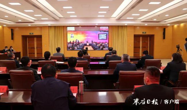 枣庄市三项目在深化山东与港澳台合作推进会上签约,陈平在枣庄分会场出席