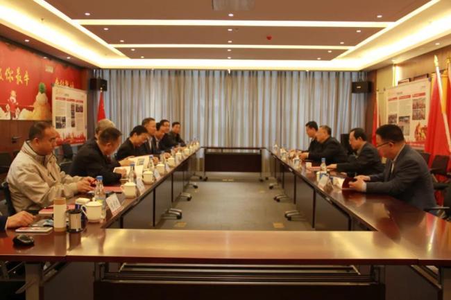 山东省人大民侨外委会刘维寅一行到三庆集团考察指导工作