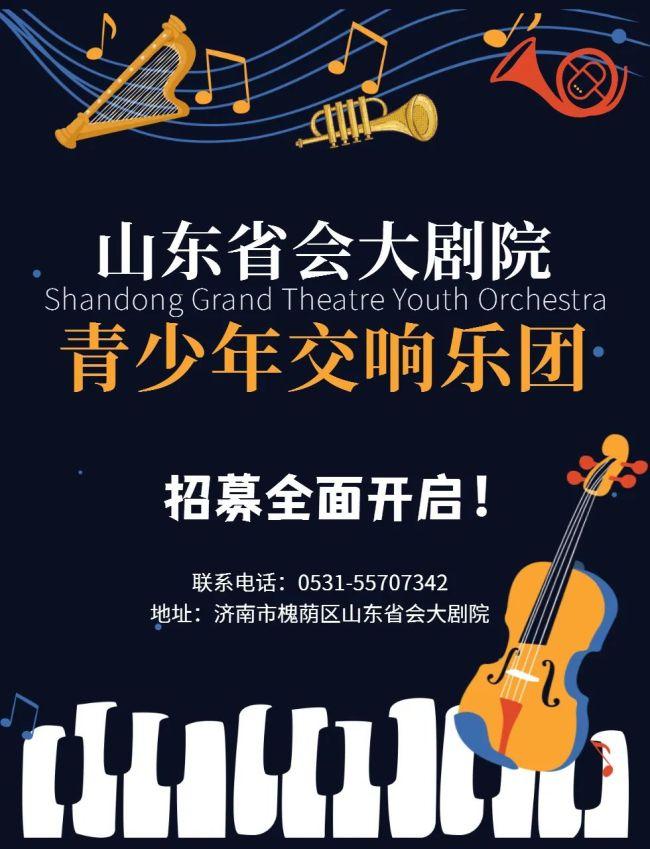山东省会大剧院2021全新组建青少年交响乐团,团员招募全面开启