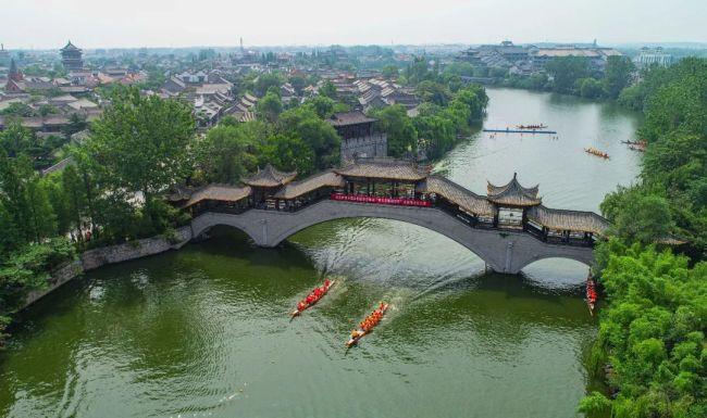台儿庄古城第五届中华端午文化节盛大举办,嘉华旅游带你领略别样的绚烂