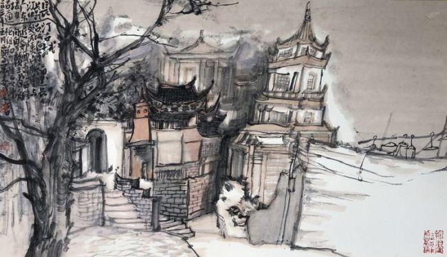 取舍有度,境为我用——浅谈著名画家贾荣志的笔墨写生之道