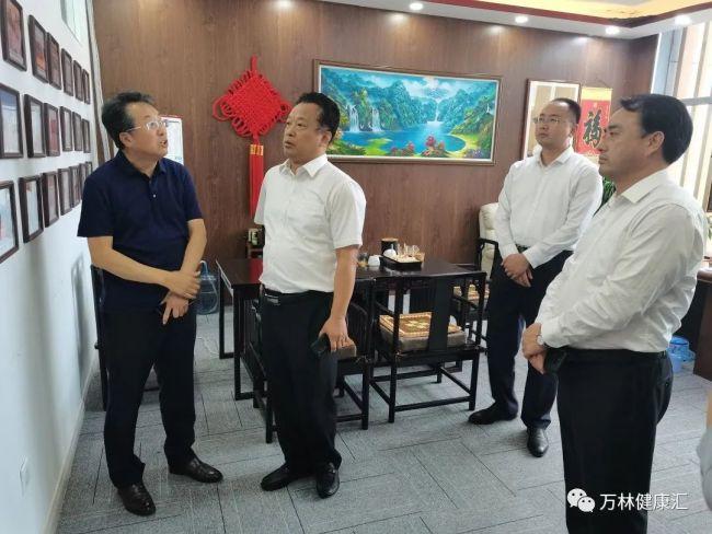 济宁金乡县长郑士民一行到青岛万林健康产业集团考察交流