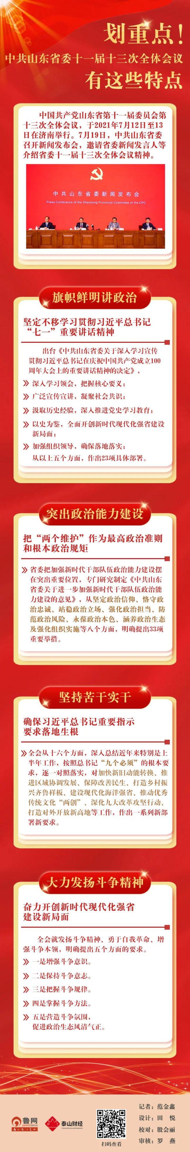 中共山东省委十一届十三次全体会议特点汇总