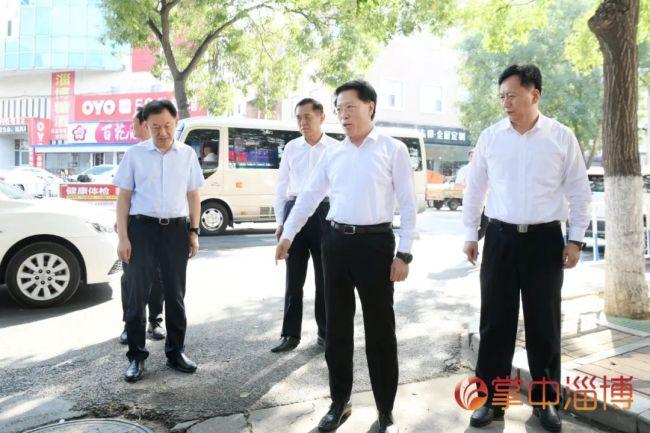 """江敦涛以""""四不两直""""方式督导检查淄博文明城市创建工作,强调全力提升城市文明水平和群众满意度"""