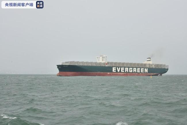 """""""长赐""""号货轮进青岛船厂维修,曾造成苏伊士运河堵塞6天"""