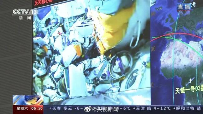 对接成功!3名航天员将进驻中国空间站