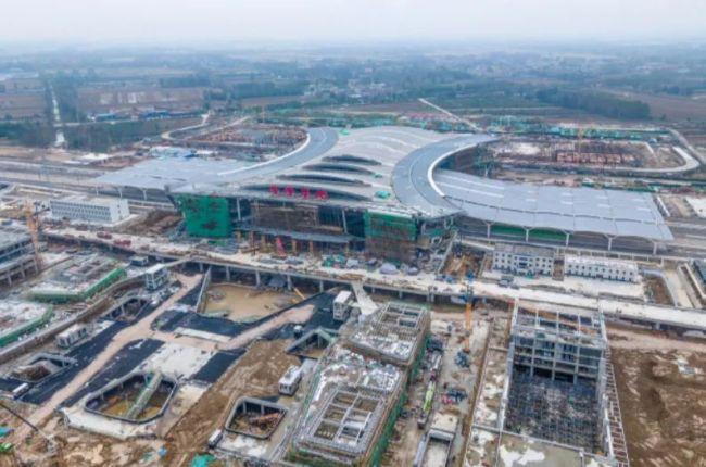 """""""菏泽东站""""正式挂牌,鲁西南地区在建最大高铁站即将建成"""